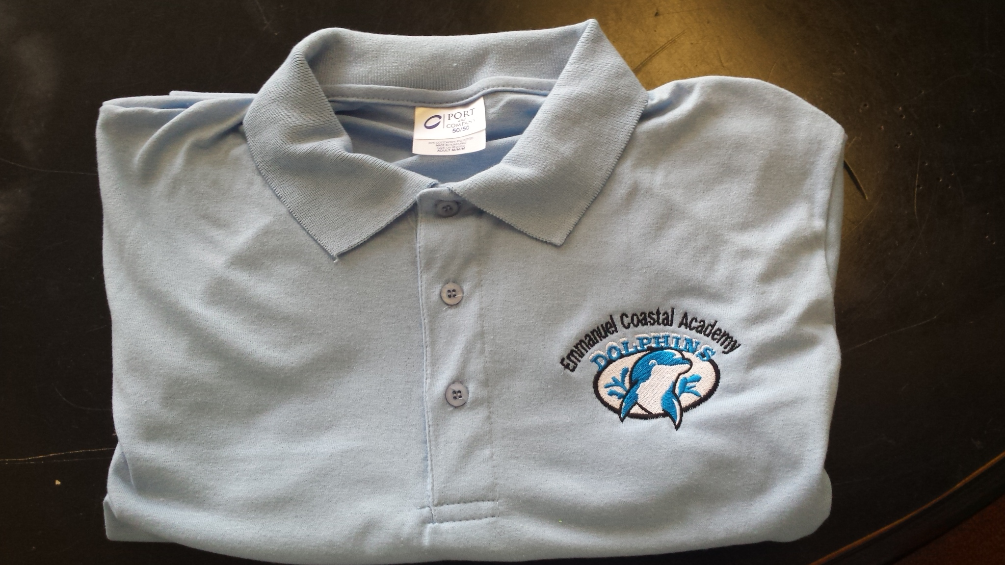 Emmanuel polo shirt light blue hines screen printing for Screen printing polo shirts